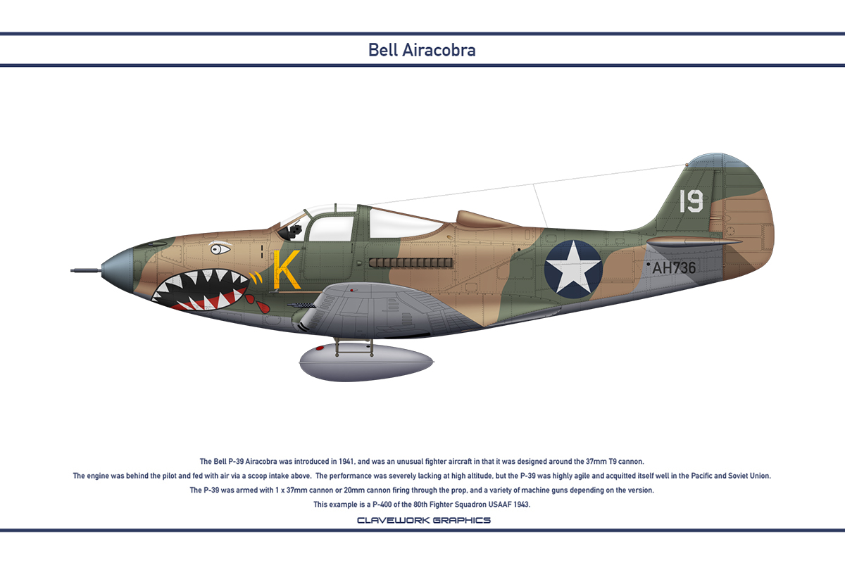 Airacobra USA 80th Fighter Squadron by WS-Clave