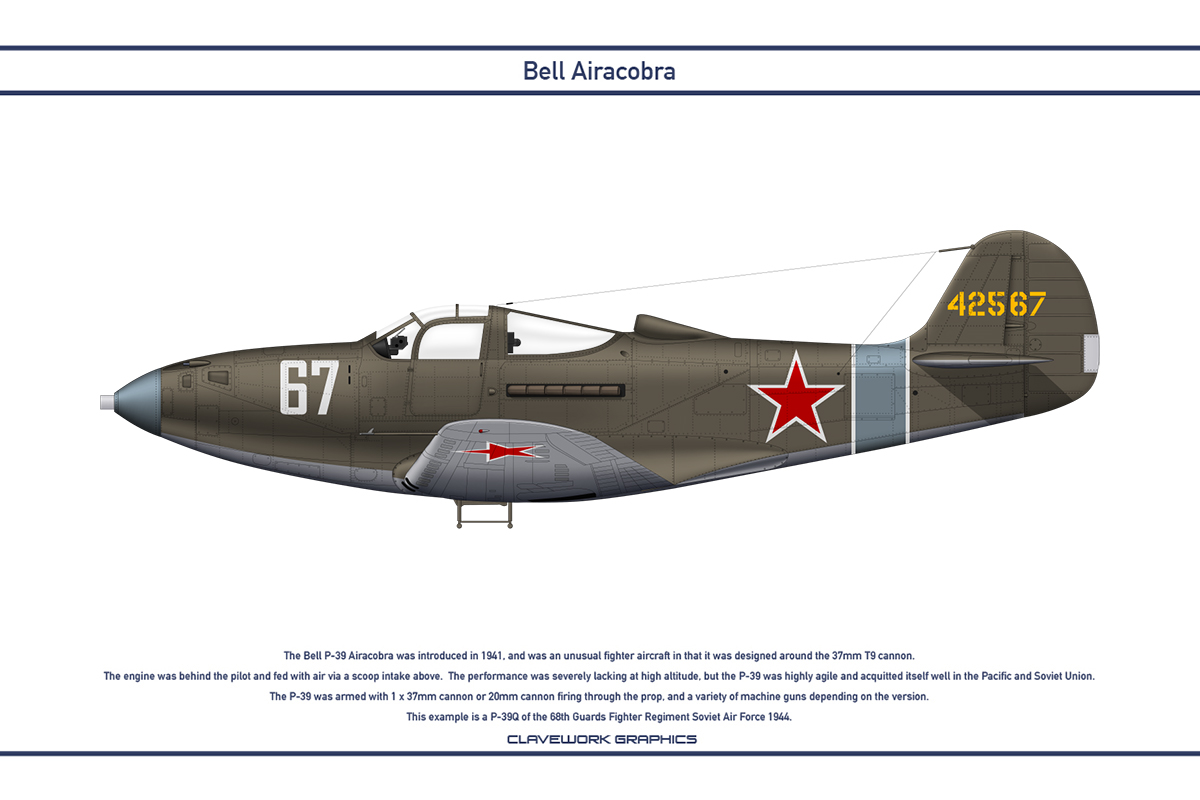 Airacobra USSR 68th Guards Fighter Regiment by WS-Clave