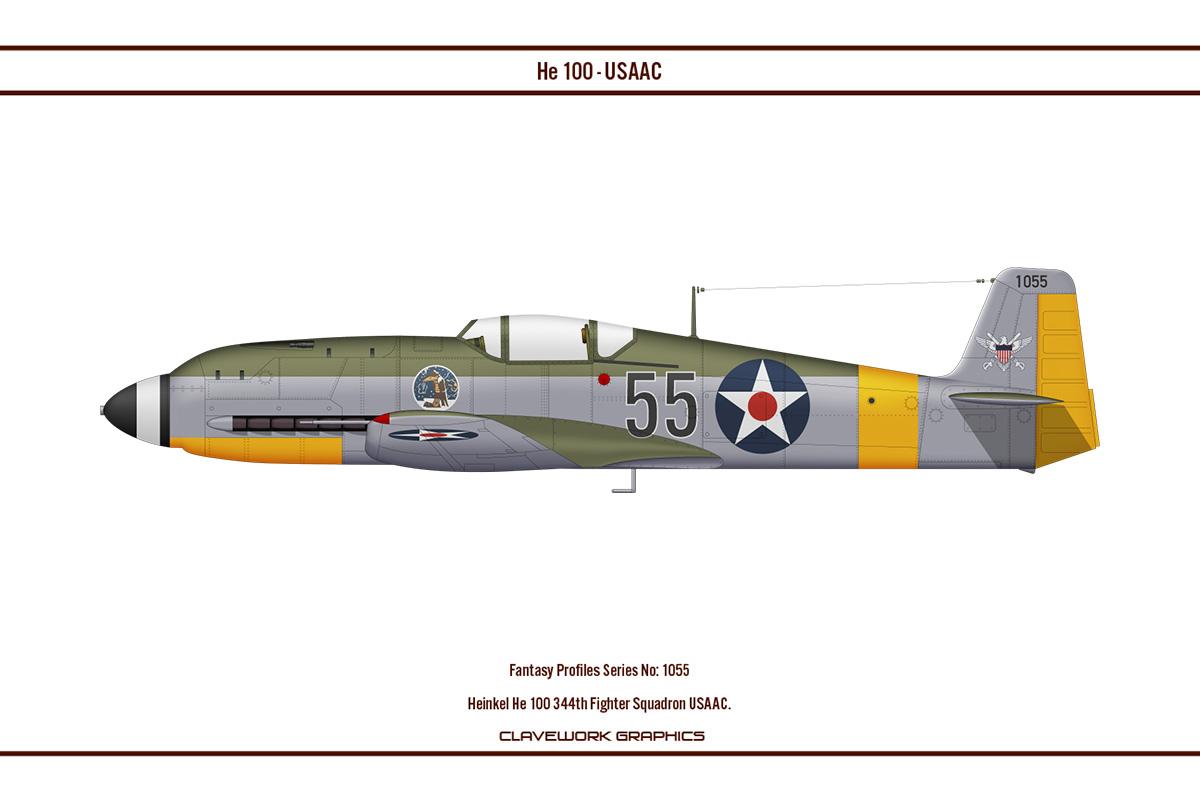 Fantasy 1055 He100 344th Fighter Squadron