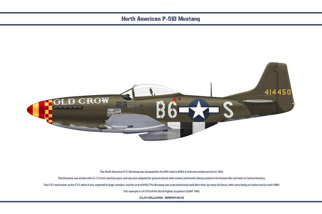 Mustang USAAF 363rd FS 2 by WS-Clave