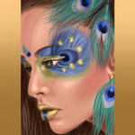 Portrait peacock style by GeorgianaEdera