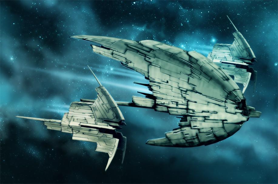 Spaceships 9 by Heliofob