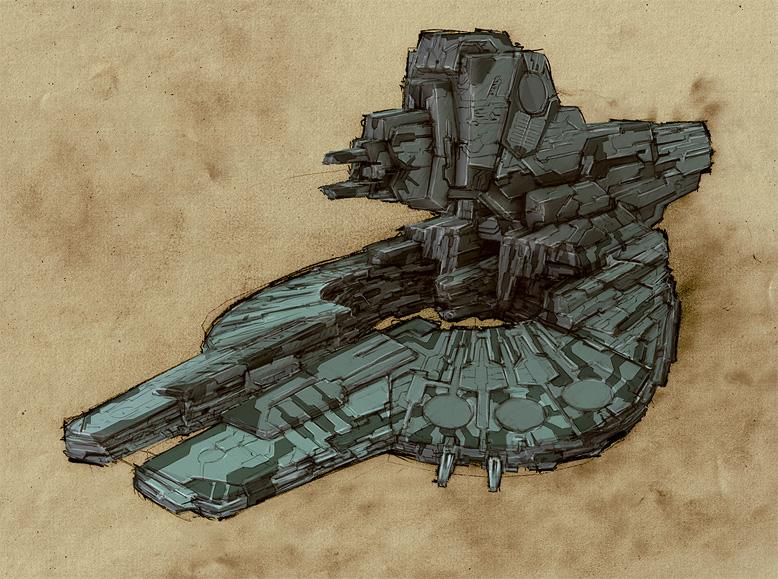 Spaceship 10 by Heliofob