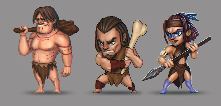 Stone Age Warriors by Heliofob