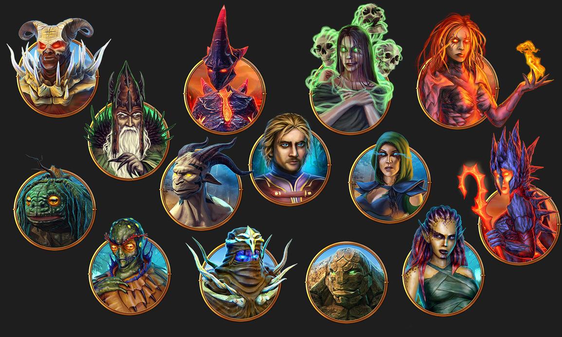 Fantasy Characters by Heliofob