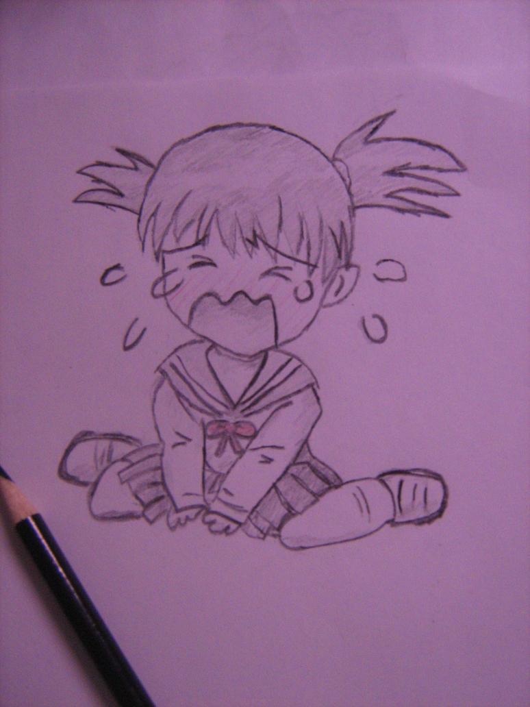 Anime Kid Crying Crying Anime Girl by