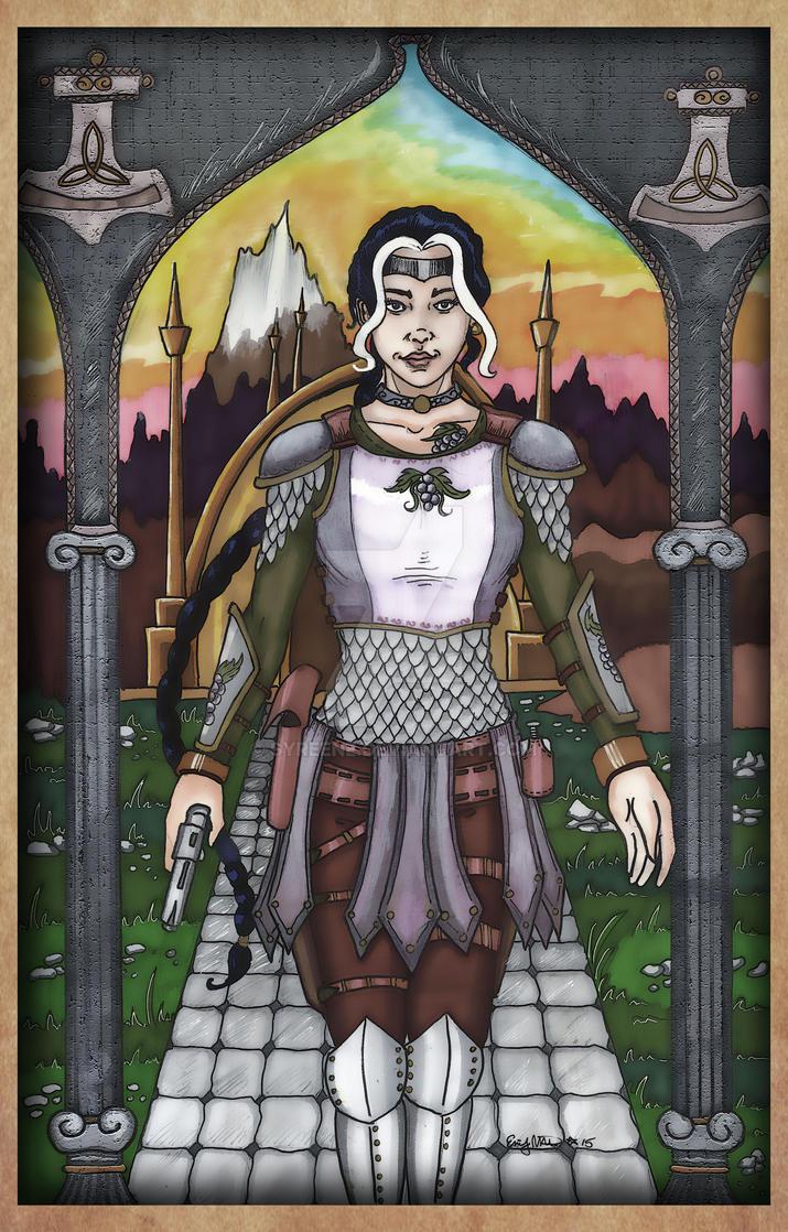 Lya in Asgard by Syreene
