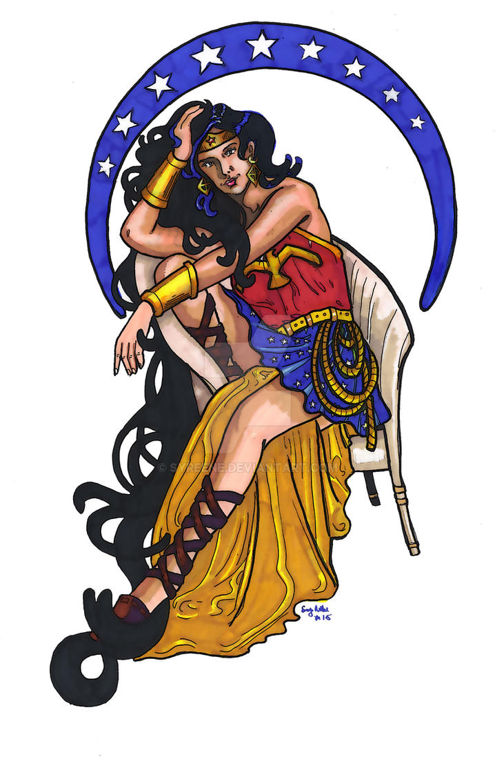 Wonder Woman Nouveau by Syreene
