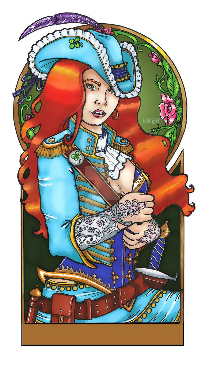 Fiona Fireblade Portrait by Syreene