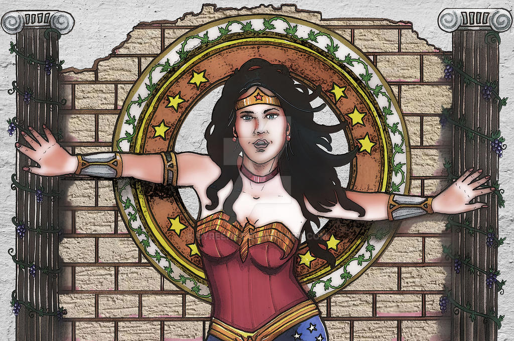 Wonder Woman Wall by Syreene