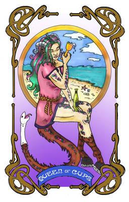 Spelljoined Tarot - The Queen of Cups