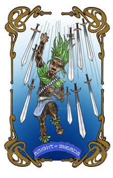 Spelljoined Tarot - The Knight of Swords