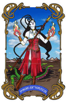 Spelljoined Tarot - The Page of Wands