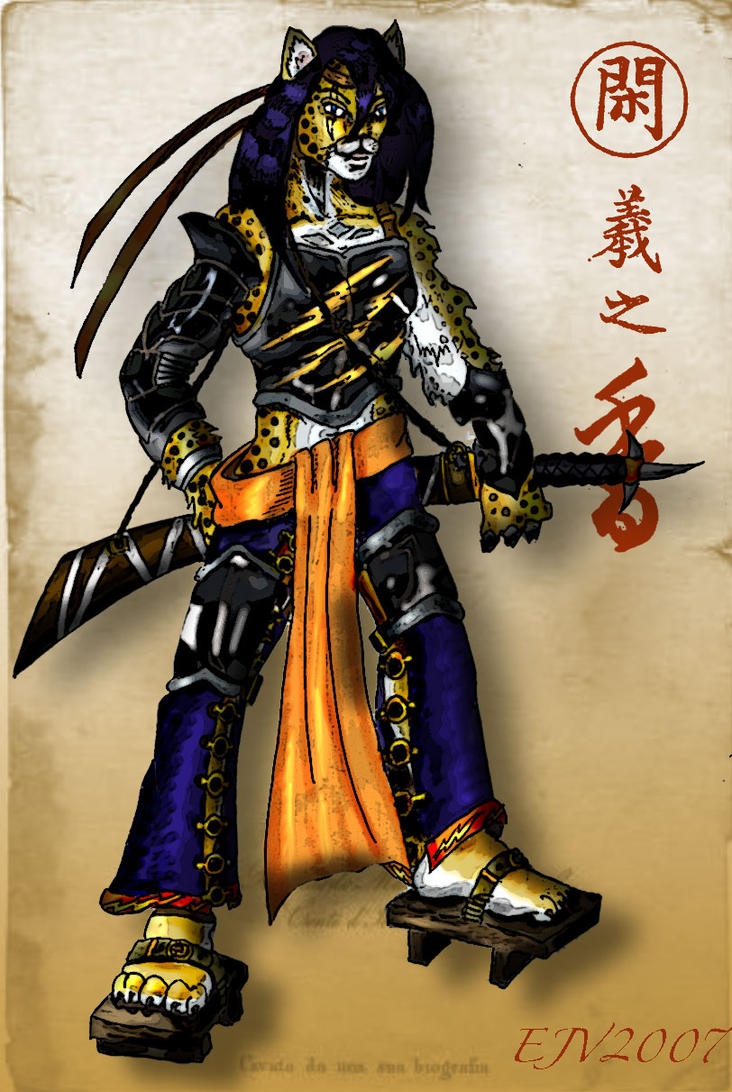 Cheetah Samurai by Syreene on DeviantArt
