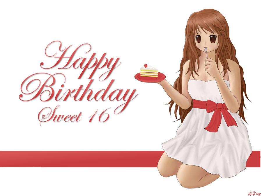 Happy BirthdaySweet Sixteen by SimplySilent on DeviantArt