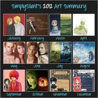 2012 Art Summary by SimplySilent