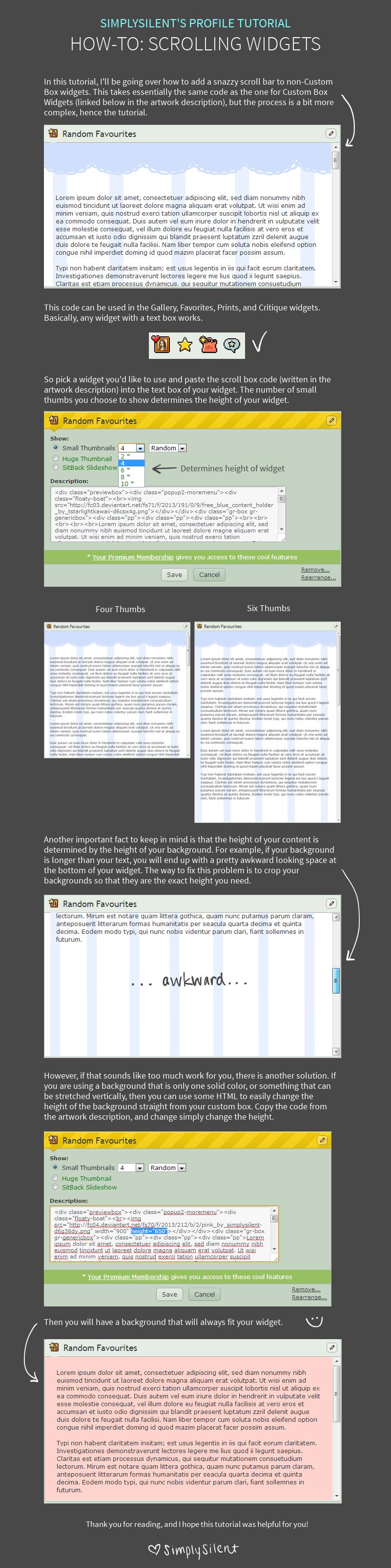 Scrolling Widgets (non-Custom Box) by SimplySilent