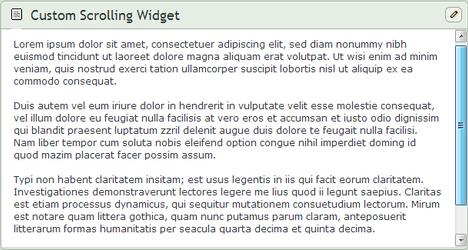 Scrolling Custom Box Widget