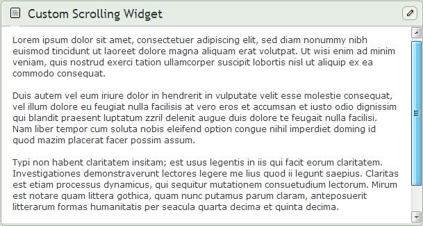 Scrolling Custom Box Widget by SimplySilent