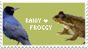 Rainy + Froggy Stamp by SimplySilent