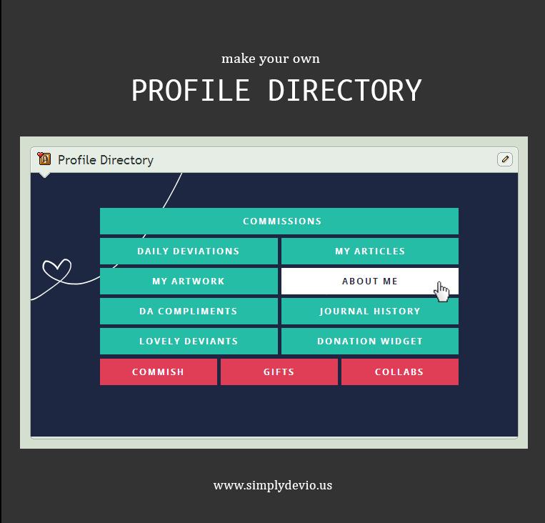 Make a Profile Directory v.4 (Updated!)