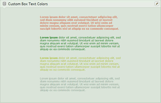 Colored Text