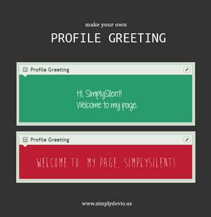 Profile Greeting v2 [BROKEN]