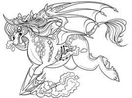 Satanicorn (Free coloring page)