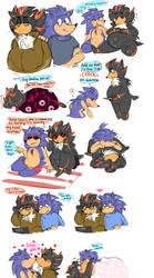 Sonic AU sketches (Commission)
