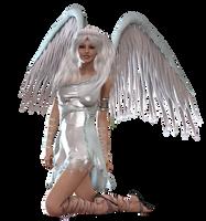 Angel Kneeling PNG by Variety-Stock