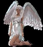 Angel Kneeling PNG