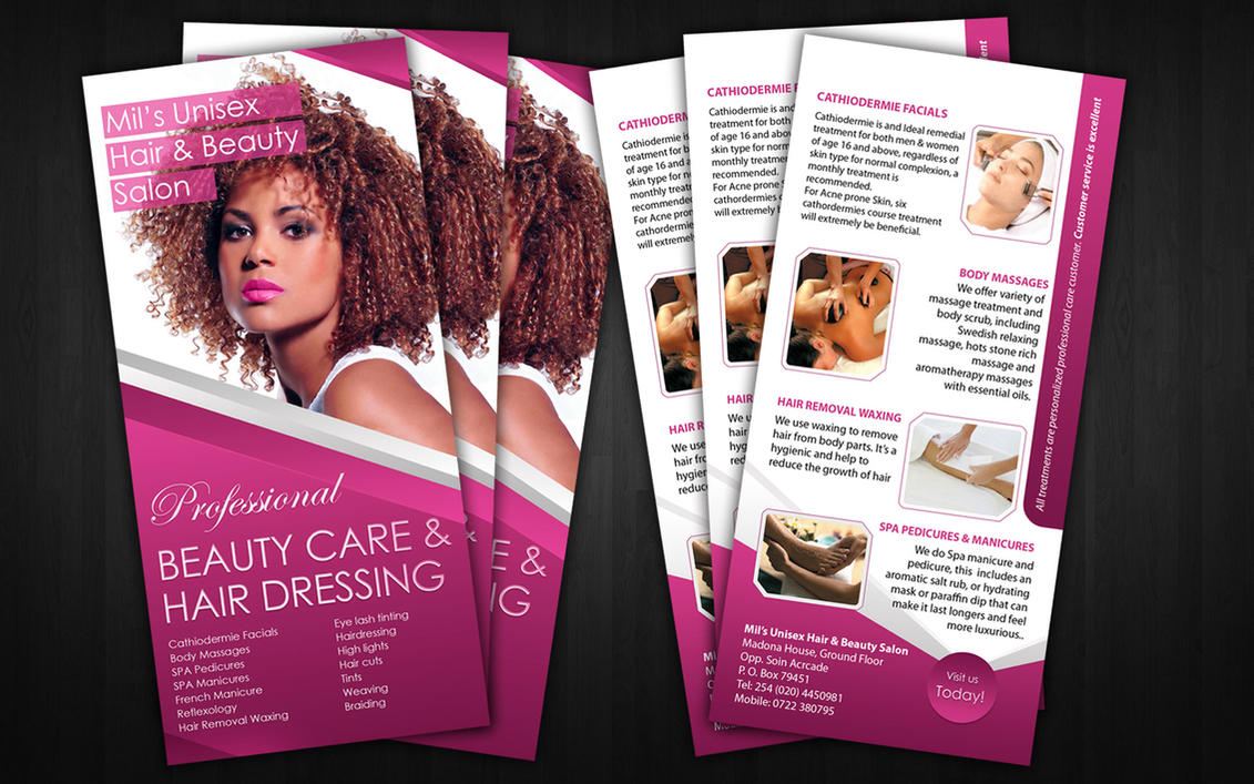 mils beauty salon flyer by sylographix on deviantart