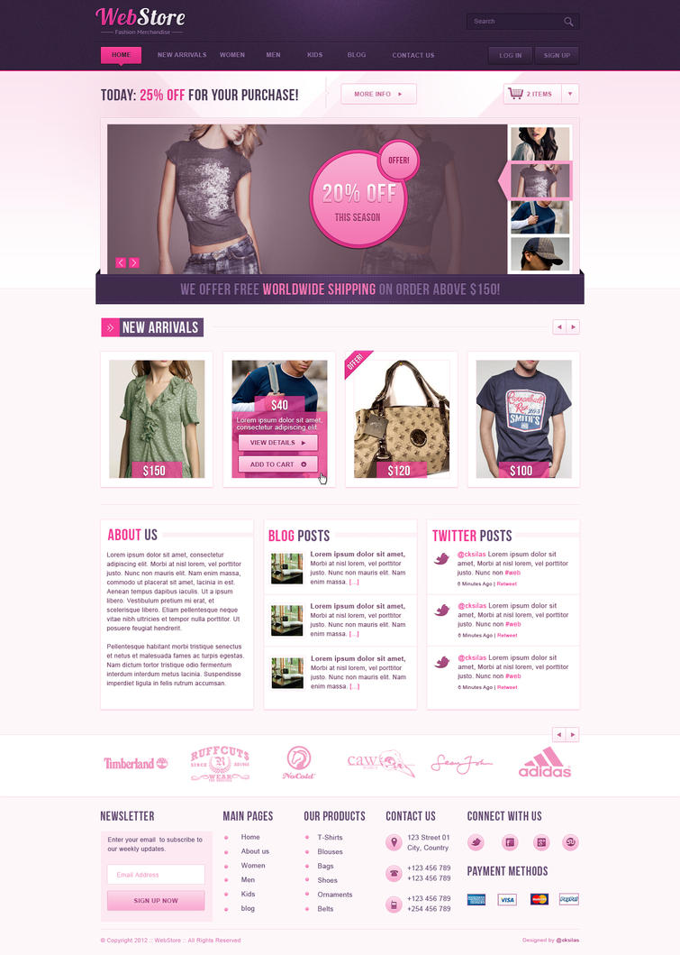 WebStore PSD Template by SyloGraphix on DeviantArt