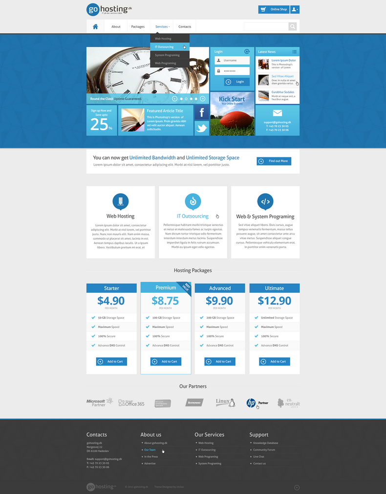 GoHosting Homepage Design - Metro Style by SyloGraphix on DeviantArt
