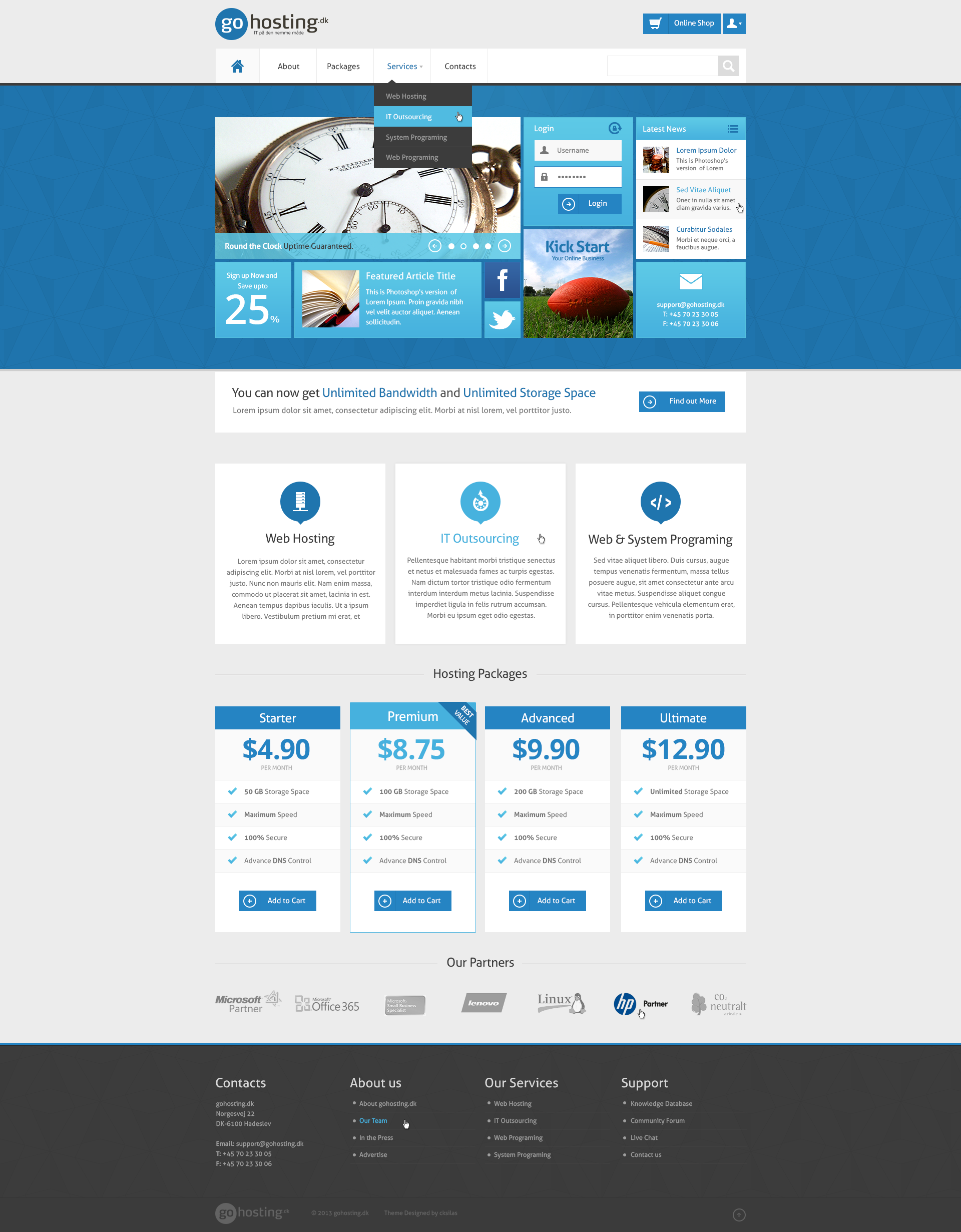 GoHosting Homepage Design Metro Style by SyloGraphix on