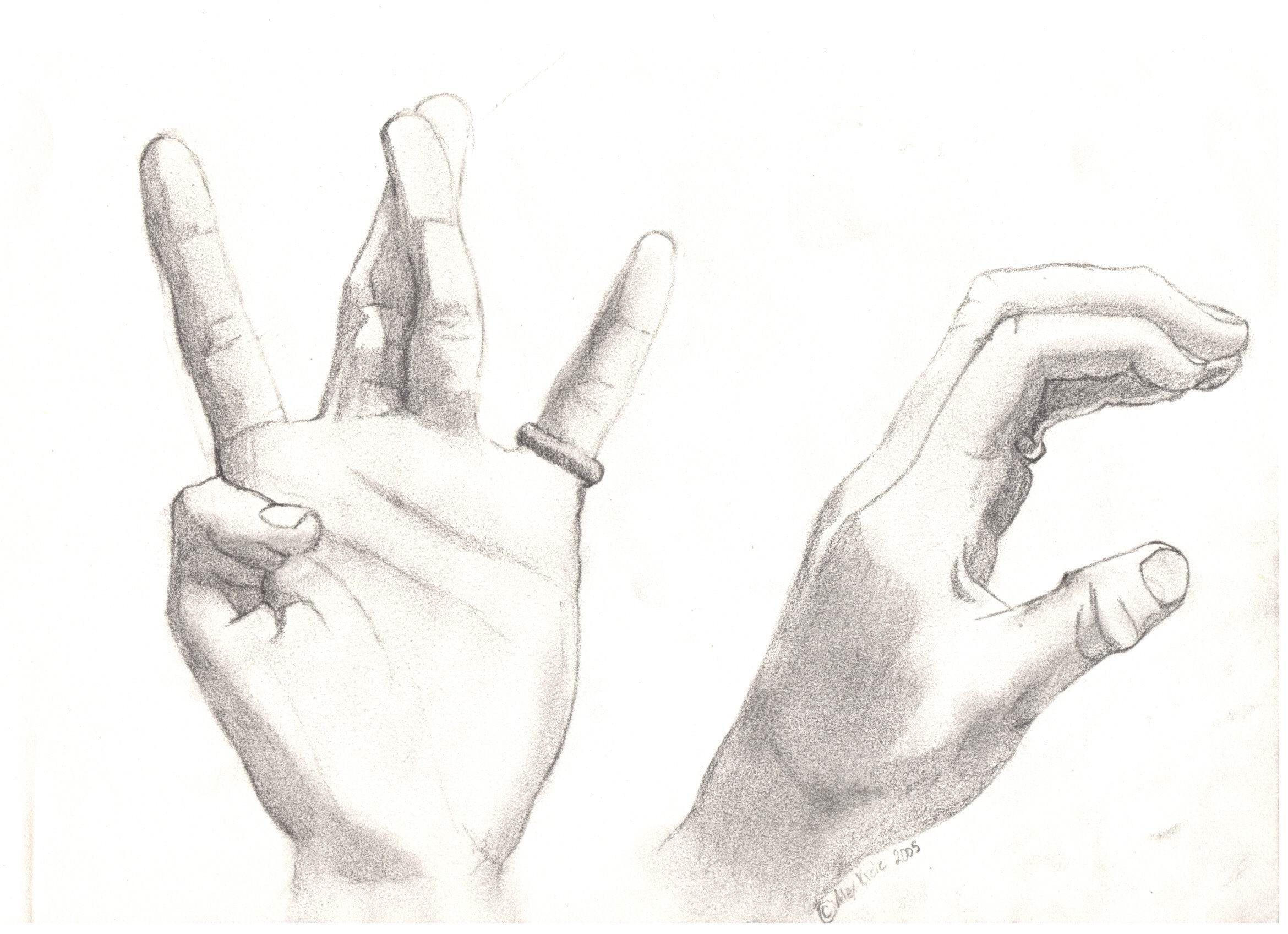 Hand drawing by satsujin ken on deviantart for Easy hand drawings