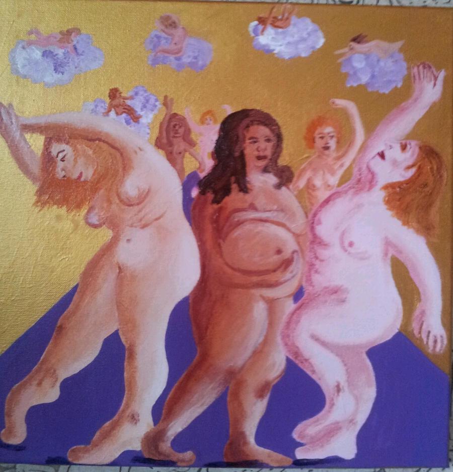 dancing women by marloma