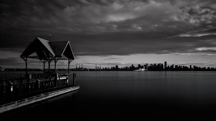 Waterfront Vancouver in Black and White by insomniac199