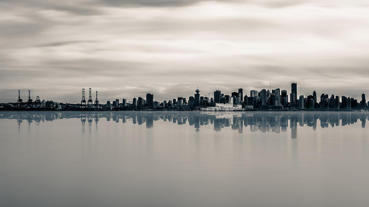 Frozen Cityscape - Vancouver by insomniac199