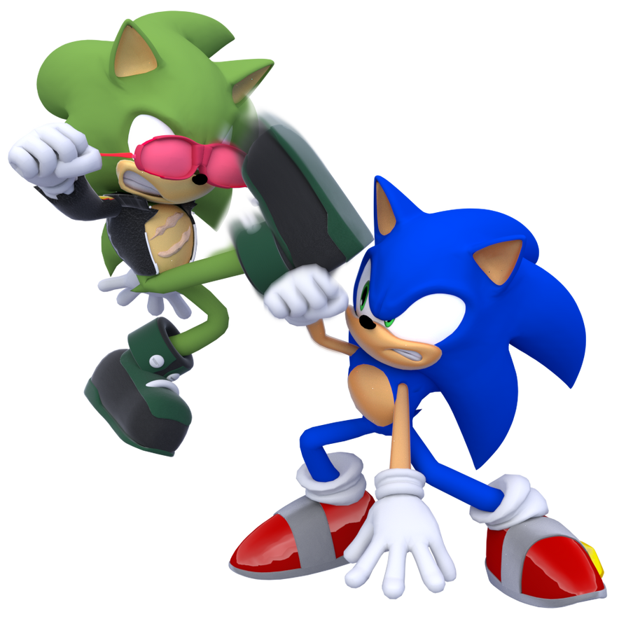 Sonic V.s Scourge By ModernLixes On DeviantArt