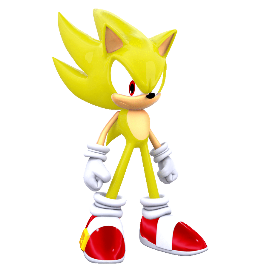Super sonic standing animated by modernlixes on deviantart - Super sonic 6 ...