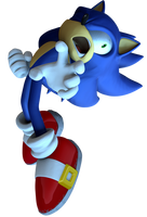 Electricuted sonic [Sonic Unleashed] by ModernLixes