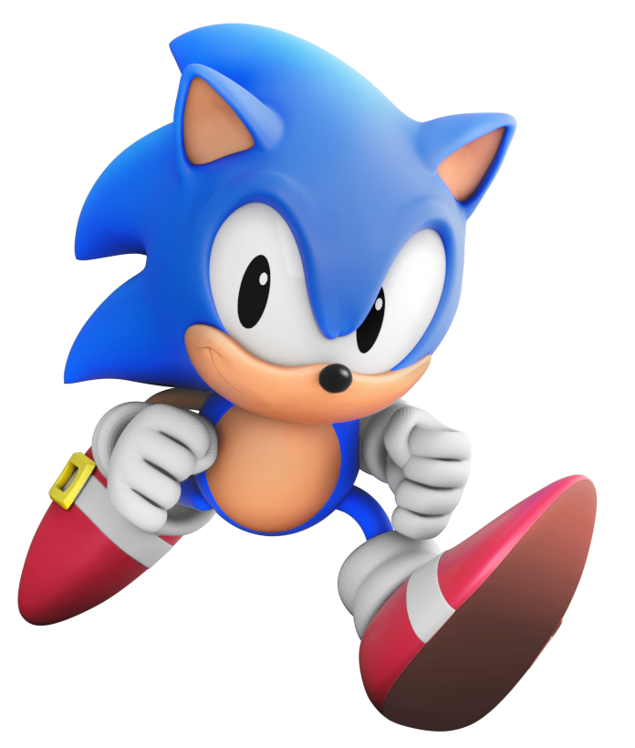 Classic Sonic Render by ModernLixes