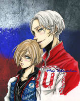 Yuri on Ice FanArt - Russian Team by MissSebasuchan
