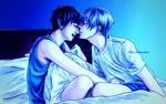 Yuuri and Victor - DA Pride - Blue