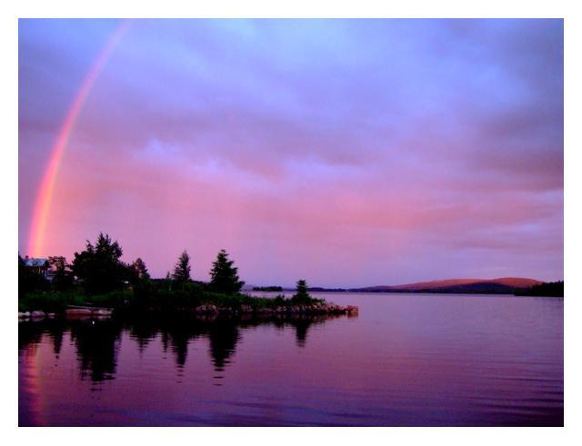 rainbow on beach