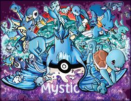 TEAM MYSTIC! 26 Pokemon(Print for sale+Speedpaint)