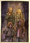 Helly Happoween - Loki Sigyn Narfi and Vali by mkingamess