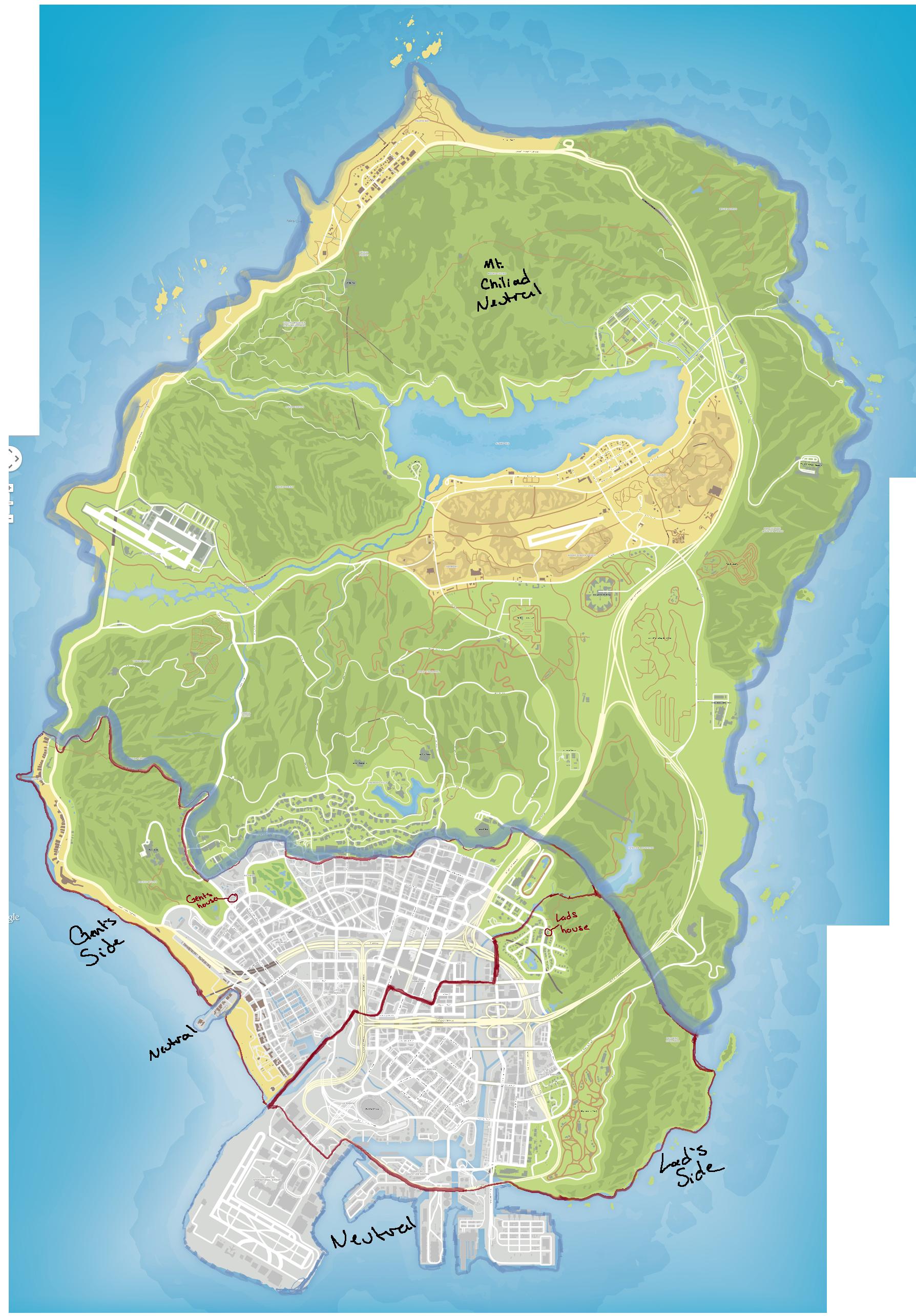 Gta  Letter Map