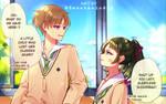 Kou-kun and Ayacchi~ by Sweetmeloday